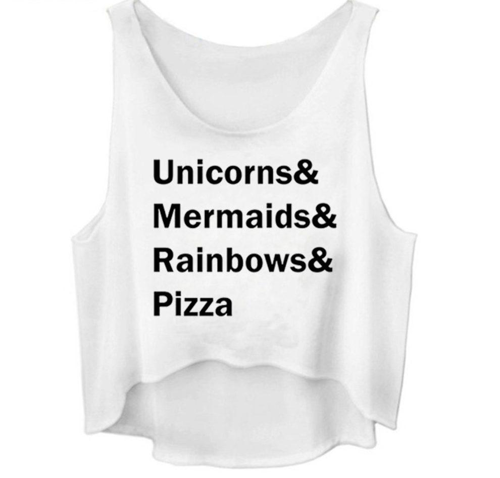 unicorns mermaids rainbows pizza crop tops aesthetic online shop. Black Bedroom Furniture Sets. Home Design Ideas